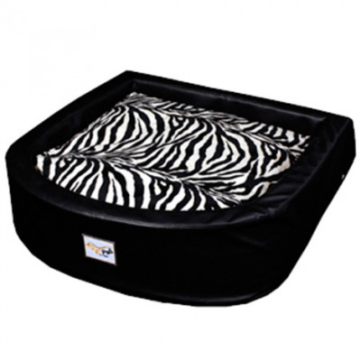 Hundebett Peet Schwarz Zebra