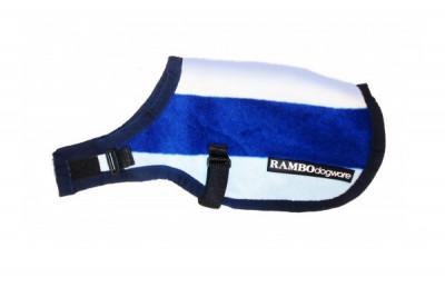 Rambo Deluxe Fleece-Hundedecke blau-gestreift
