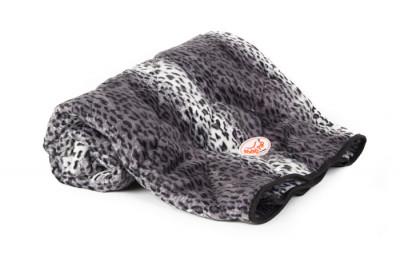 Kuscheldecke soft Schneeleopard