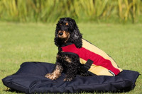 Rambo Deluxe Fleece-Hundedecke braun-gestreift